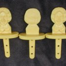 Ronald McDonald popsicle sticks set of 3 yellow all good
