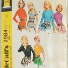 McCall 2984 misses set of blouses size 12 UNCUT pattern