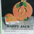 Pumpkin padded hoop design wall hanging Happy Jack pattern Halloween