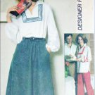 Simplicity 8087 sewing pattern misses pullover top skirt pants size 10 UNCUT