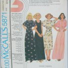 McCall 5871 misses dress vintage 1977 gown sizes 12 14 16 uncut sleeveless & collar