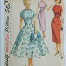 Simplicity 1510 misses vintage dress pattern 1956 size 13 B31