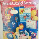 Plastic Canvas Small World Bazaar baby crib phone jack in box patterns