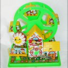 Yone wind up tin & plastic toy ferris wheel with key bell works rare