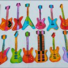 "12 guitar appliques about 4"" long various styles type"