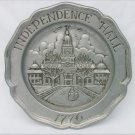 Sexton Pewter plate 1776 Independence Hall issued 1973