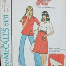 McCall 5131 misses top skirt size small 10 12 UNCUT retro pattern