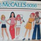 McCall 5056 girls dress top pants shorts size 8 UNCUT pattern knits only