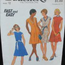 Butterick 3574 misses dress size 12 knits only UNCUT retro pattern