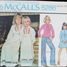 McCall 5286 girls caftan dress top with transfer sizes 8 10 UNCUXT pattern