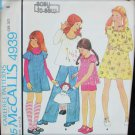 McCall 4939 girls dress top pans with transfer size 8 UNCUT pattern