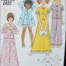 Butterick 3452 girls PJs night gown robe size 6 UNCUT pattern
