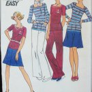Butterick 3535 misses top skirt pants size 12 UNCUT pattern moderate knits