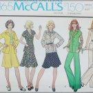 McCall 4365 misses jacket skirt pants size 12 UNCUT pattern