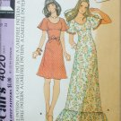 McCall 4020 misses dress retro 1974 size 12 UNCUT pattern