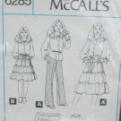 McCall 6285 Girl's skirt and blouse size 10 UNCUT but no envelop