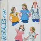 McCall 4597 Girl's blouse tops size 8 UNCUT