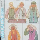 McCall 6159 misses vest patterns sizes 10 12 14 UNCUT pattern 1978