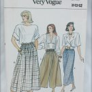 Vogue 9813 culottes or drindl or straight skirt szies 8 10 12 UNCUT pattern