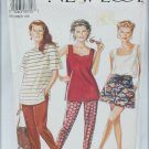 New Look 6020 misses tops trousers shorts sizes 8 10 12 14 16 18 UNCUT pattern