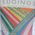 Edgings Handkerchiefs Doilies book 56 crochet knit patterns vintage 1935