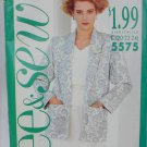 Butterick See & Sew 5575 woman's jacket top skirt size 20 22 24 UNCUT pattern