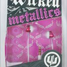 Wicked Metallics audio ear buds earplugs pink WI 1903 MIB