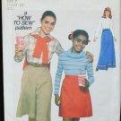 Simplicity 8136 girls skirt & gauchos size 7 pattern