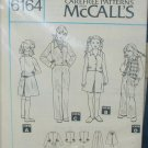 McCall 6164 girl's pants jacket skirt vest size 12 UNCUT pattern no envelop