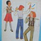 Simplicity 8632 girl's skirt pants vest size 8 used pattern