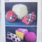 Simplicity 5328 geometric plush pillow pattern cube triangle ball UNCUT pattern