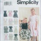 Simplicity 8754 girls dress size 3 4 5 6 UNCUT pattern