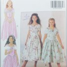 Butterick 5931 girl's fancy dress pattern sizes 7 8 10