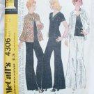 McCall 4306 misses jacket top very wide leg pants size 12 pattern vintage 1974