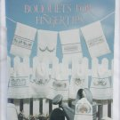 Leisure Arts 927 Bouquets for FingerTip towels cross stitch pattern leaflet