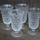 Fostoria American footed juice goblets 4 3/4 inches flared top set of 4