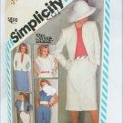 Simplicity 6272 misses pants skirt jacket pattern size 8 retro 1983