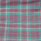"Green red white plaid fabric for suits skirts 60"" wide"