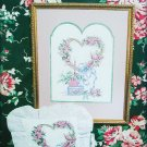 Heart of Roses cross stitch pattern leaflet
