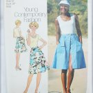 Simplicity 6968 ladies skirt shorts top pattern size 12 vintage 1975