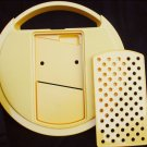 Tupperware grater replacement top lid with parts yellow