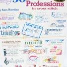 American School of Needlework 50 Professions in cross stitch patterns #3603