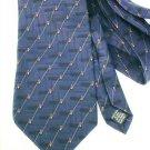 Stafford Executive man's necktie dark blue red/gold accents silk
