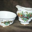Helensburgh Scotland china creamer pitcher & sugar bowl Crichtons Gift Shop