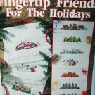 Leisure Arts 2359 Fingertip Friends for the Holidays Towel cross stitch patterns