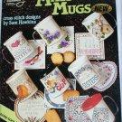 American School of Needlework Mats & Mugs cross stitch pattern booklet 3583