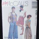 McCall 4751 misses culottes top vest skirt sizes 6 8 10 UNCUT pattern
