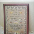 Cross stitch Wedding Sampler design Margaret McKee