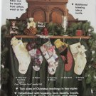 "Stockings & 5"" tiny bears pattern Kathy Pace Gooseberry Hill Christmas"