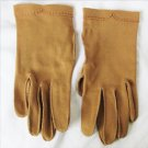 Crescendoe gloves dark tan size 6 cotton never used wrist length small